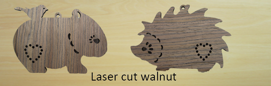 Laser cutting services for walnut wood in China