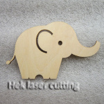 animal-elephant laser cutting