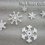 laser cutting snowflakes parts